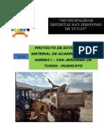 Proyecto de Extracion de Material de Acarreo