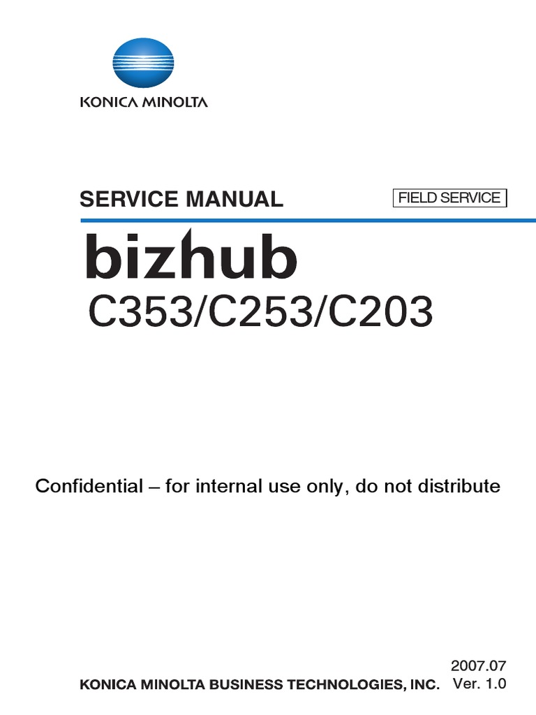 Konica Minolta Bizhub C203 C253 C353 Service Manual | Electrical Connector  | Ac Power Plugs And Sockets