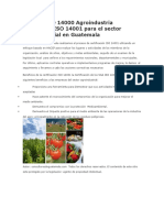 Normas ISO 14000 Agroindustria Guatemala ISO 14001 para el sector agroindustrial en Guatemala.docx