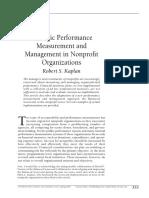Strategic Performance - Kaplan