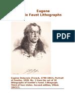 Eugene Delacroix-Faust (Lithographs)