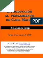 Introduccion Al Pensamiento de Karl Marx - Milciades Peña
