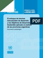 Objetivos Desarrollo Sostenible - Brechas Estructurales