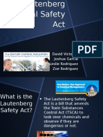 lautenberg chemical safety act pptx