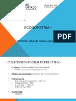 Capitulo I Econometria