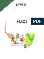 Cartel Helado