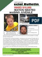 LA County Sheriff's missing flyer for 5-year-old Aramazd Adressian, Jr.