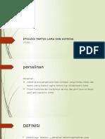 Etiologi Partus Lama Dan Asfiksia