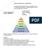 blooms taxonomy for cornell notes