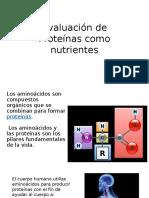 Evaluación de Proteínas Como Nutrientes