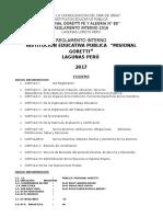 REGLAMENTO INTERNO 2017 Lectura Del Docente