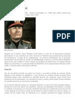 Biografia Benito Mussolini