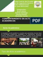 Comportamiento en Actos Academicos