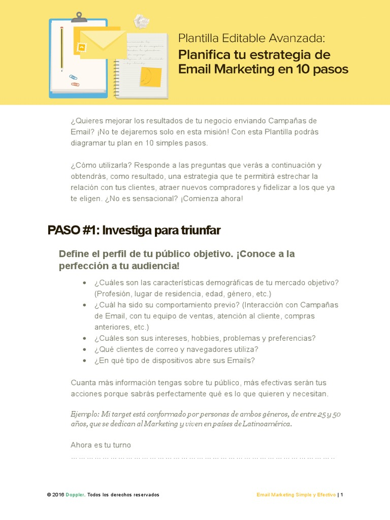 Plantilla Email Marketing Avanzado