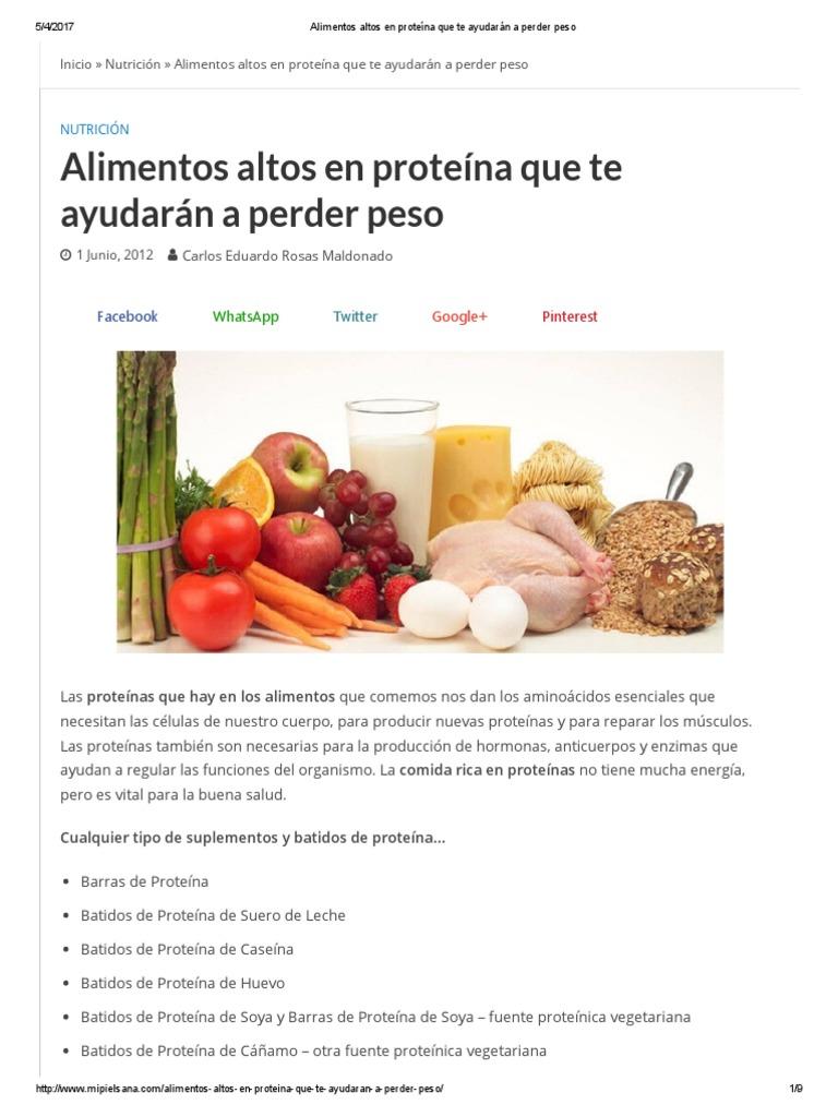Alimentos ricos en proteina caseina