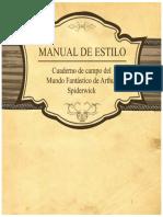 Manual de Estilo-cauderno de campo de arthur spiderwick