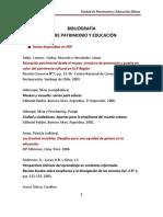 Bibliografia Patrimonio y Educacion