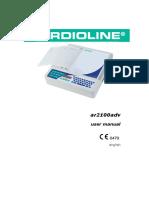 ECG Cardioline AR2100ADV - User Manual