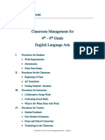 classroom management plan wasielewski