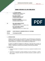 Informe tecnico FAMESA