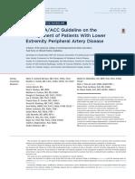2016 AHA ACC Periphery Artery Disease Guidelines