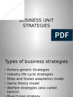 Business Unit Strategies