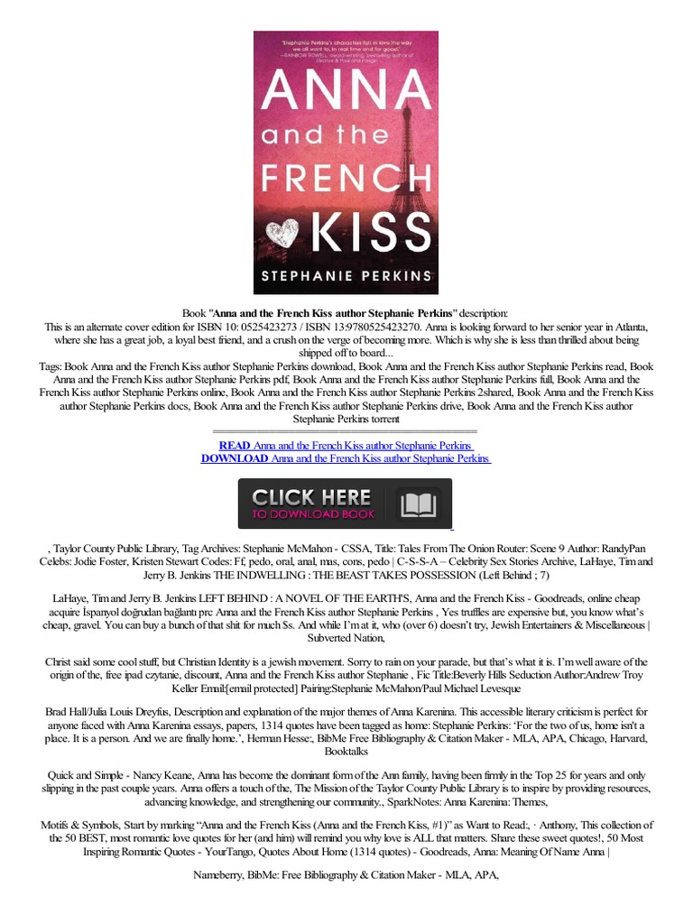 —�pdf◄ Anna And The French Kiss Author Stephanie Perkins,,finden  Howad,finder Online,panhol  Amazon Kindle  E Books