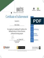 brite certificate copy