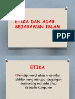Etika Dan Adab Sejarawan Islam