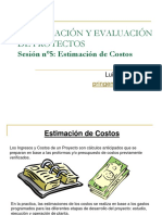 Sesion n°5 - Estimación de Costos