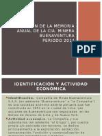 01. - Memoria Anual Cía. Minera Buenaventura (2014)