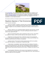 list of keystone species