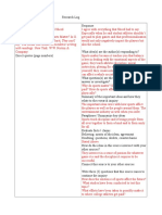 readers guide research log