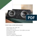 Infinity Video-1 Cc Speaker