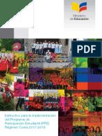 Instructivo Para La Implementación Del PPE Régimen Costa 2017-2018