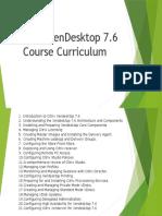 Citrix XenDesktop 7.6 Course Curriculum
