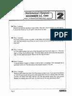 M.O.E.M.S Practice Packet 1999 [Des]