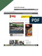 Tampilan Website Tribratanews Polres Semarang