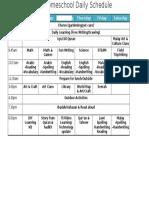 homeschool daily schedule