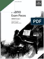 ABRSM 2017-18 Piano Pieces Gr1