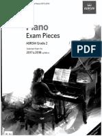 ABRSM 2017-18 Piano Pieces Gr2