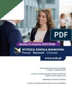 Informator 2017 - Studia II Stopnia - Wyższa Szkoła Bankowa w Szczecinie