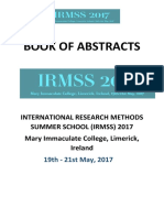 Book of Abstracts for IRMSS 2017