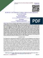 SURVEY ON STRESS TYPES USING DATA MINING ALGORITHMS