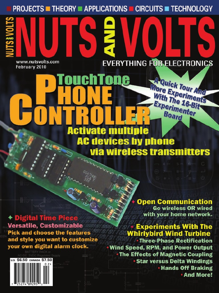 Nuts And Volts 2010 02 Amplifier Large Hadron Collider Picaxe Model Railroad Speed Controller