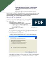 Instalación de La Impresora de Conversión a PDF en Máquinas Cliente (1)