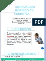 Abdomen Agudo Quirúrgico en Pediatría