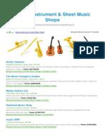 Musical Instrument Sheet Music Shops BizHouse.uk