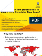 Adrian Schoo - Training Rural Health Professionals