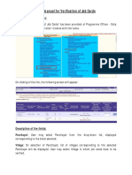Verification of Job Cards Manual